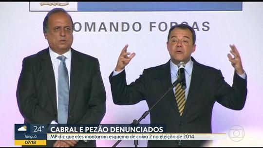 Cabral e Pezão são denunciados novamente pelo MP