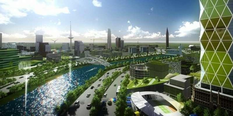 Modelo da cidade nas Filipinas (Foto: Divulgação)