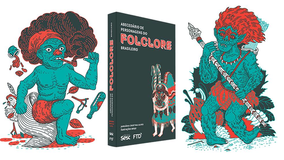 Abecedário de personagens do folclore brasileiro (Foto: Divulgação)