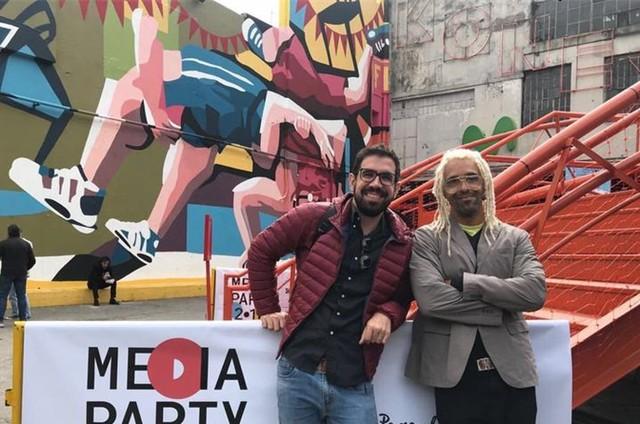 Marcelo Sarkis e Jorge Espírito Santo, do 'Fantástico' (Foto: Arquivo pessoal)