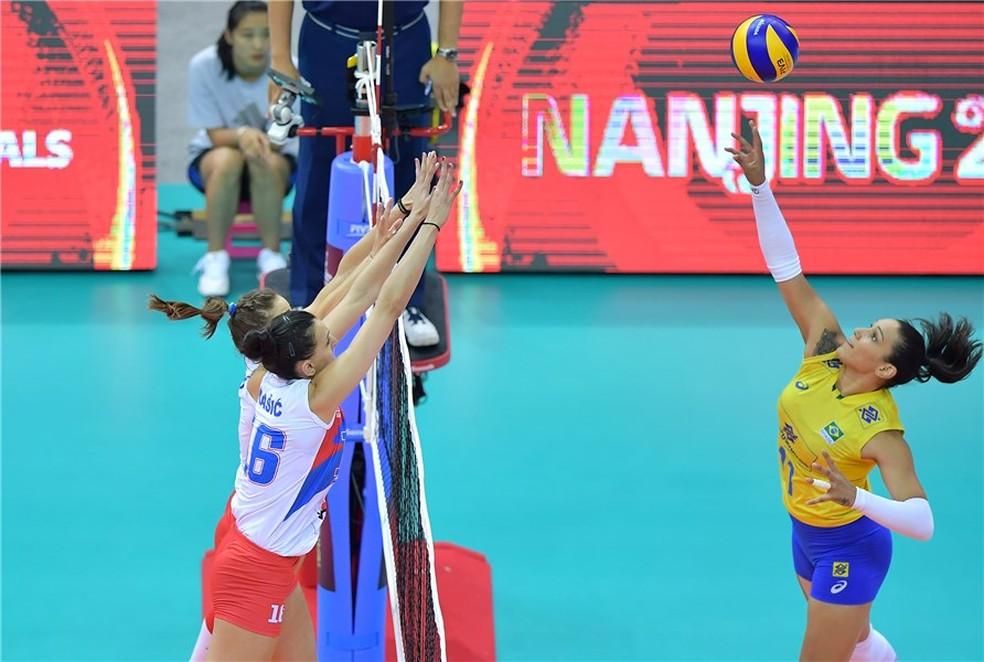 Tandara foi o destaque do Brasil no triunfo que valeu vaga na decisão na China (Foto: FIVB / Divulgação)