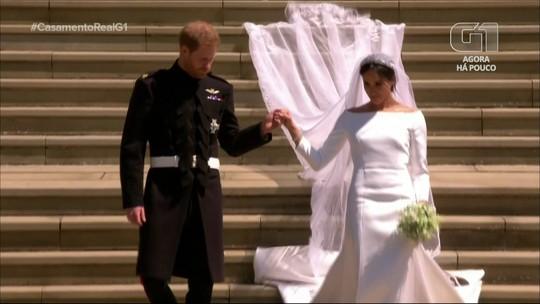 Príncipe Harry e Meghan Markle se casam em cerimônia que uniu tradição e modernidade