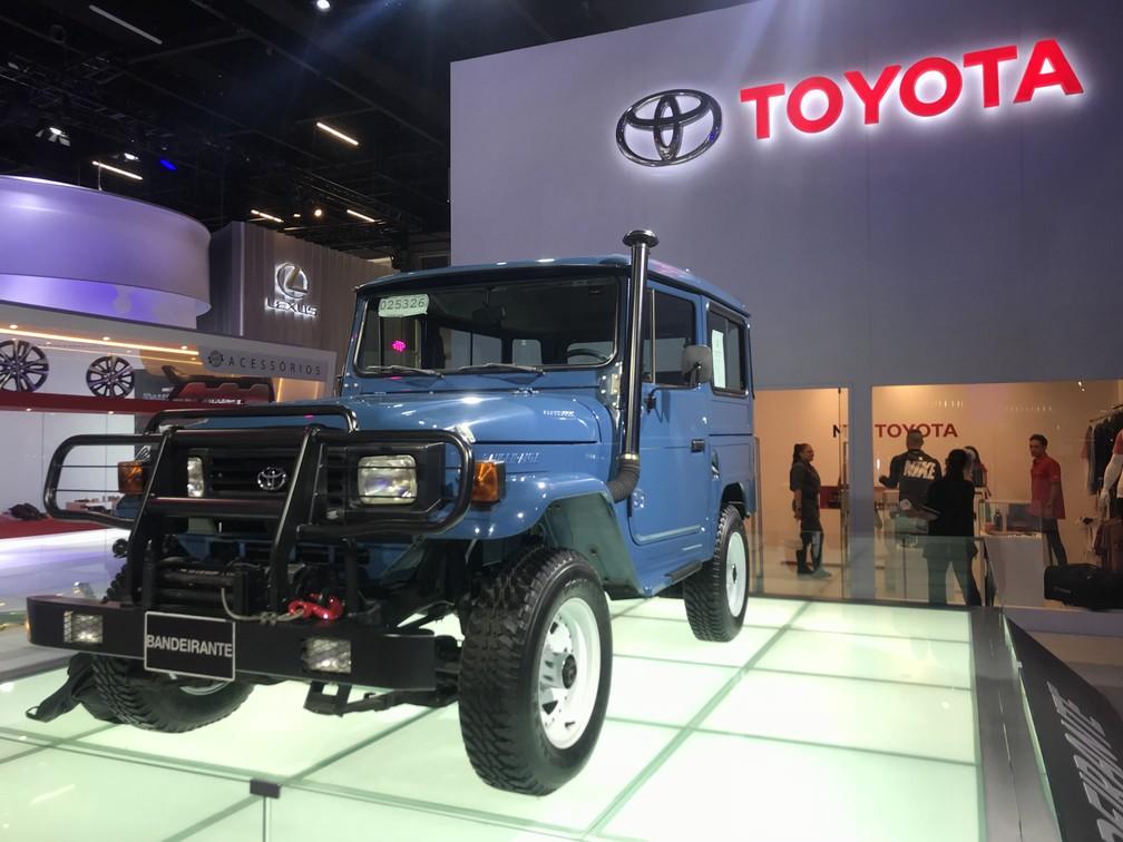 Toyota leva ao Salão de SP o último Bandeirante a sair da linha de produção, em 2001 — Foto: André Paixão/G1