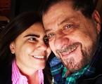 Flávio Galvão com a namorada, a atriz Mayara Magri | Arquivo pessoal