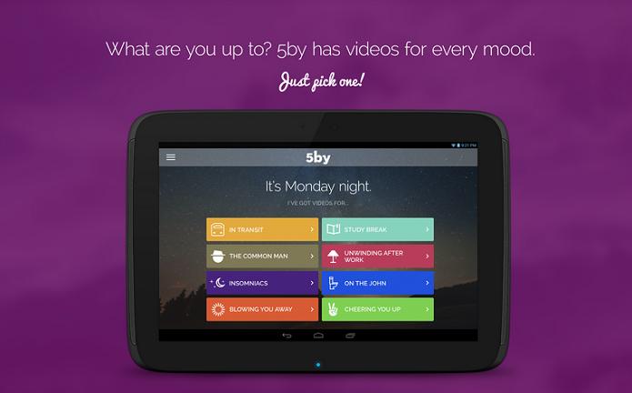 5by é um aplicativo de vídeo (Foto: Divulgação)