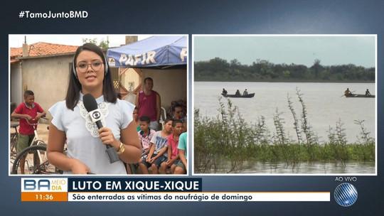 Barco que afundou e deixou quatro pescadores mortos em Xique-Xique estava com sobrepeso, diz PM