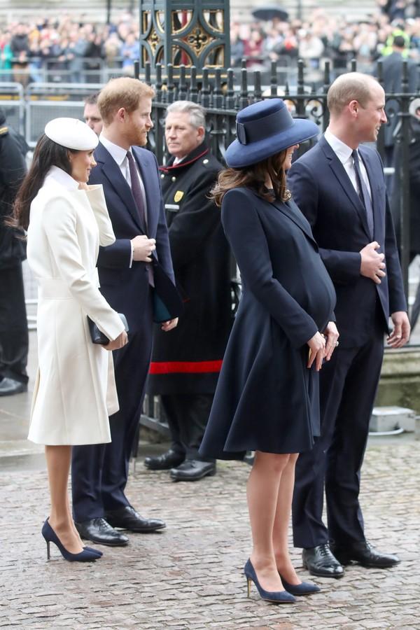 Meghan Markle, príncipe Harry, Kate Middleton e príncipe William (Foto: Getty Images)