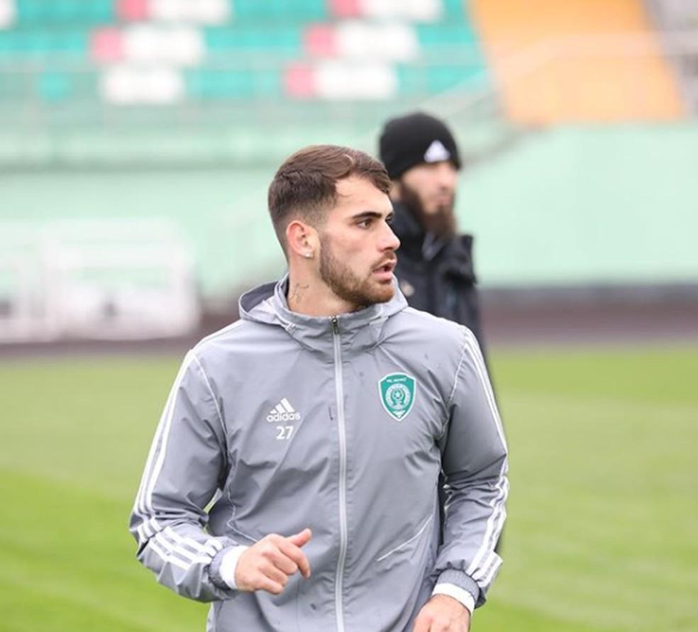 Felipe Vizeu estava no Akhmat Grozny (RUS), mas retornou para a Udinese em setembro — Foto: Divulgação / Akhmat Grozny