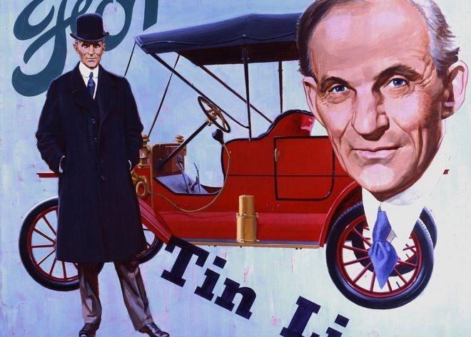 O carro-chefe da Ford, o Modelo T., podia ser produzido mais rápido que qualquer outro veículo antes dele (Foto: Getty Images/BBC)