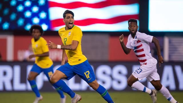 Lucas Paquetá Brasil x Estados Unidos em Nova Jersey