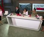 Equipe da GloboNews no domingo de eleições | Reprodução