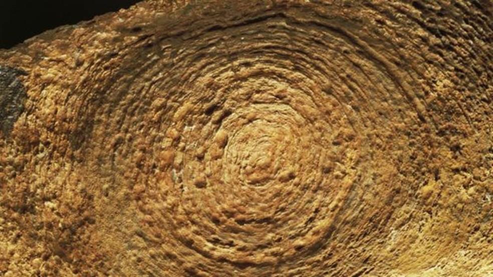 Estruturas minerais como estes estromatólitos são fundamentais na produção de oxigênio — Foto: Getty Images/BBC