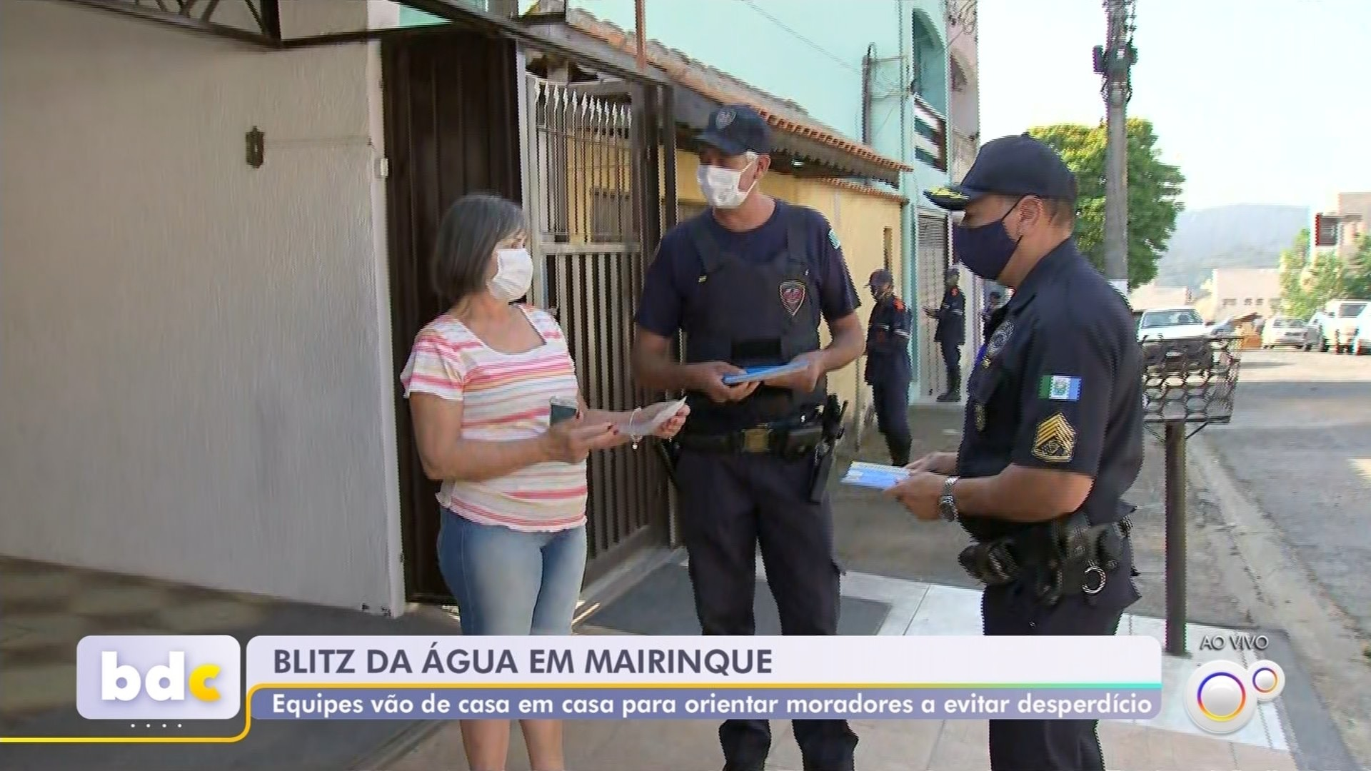 Patrulha orienta e multa moradores que desperdiçarem água em Mairinque