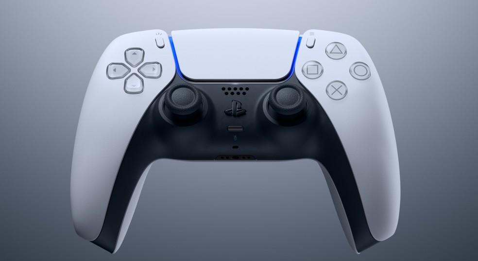 O controle DualSense é um dos grandes destaques do PlayStation 5 (PS5) — Foto: Divulgação/Sony