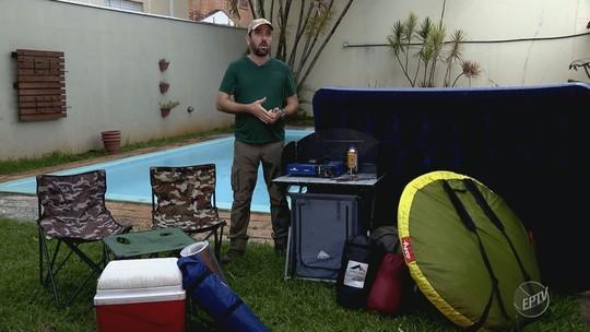 Playlist, desafios e dicas inusitadas: reveja as reportagens da série 'Partiu camping'