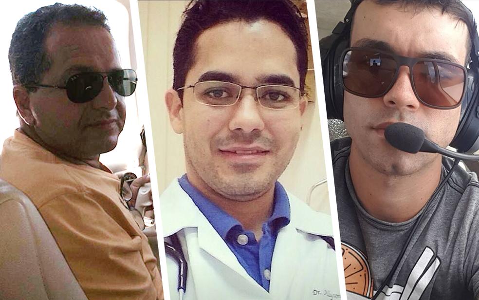 William Rayes, Allyson Lima e Caique Caciolato morreram na queda de um monomotor em Rio Preto (Foto: Arquivo Pessoal )