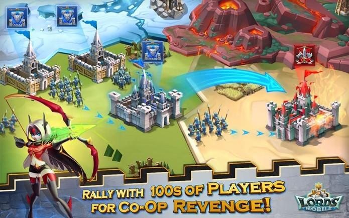 Lords Mobile traz estratégia focando no gerenciamento de recursos e alianças (Foto: Divulgação / IGG.com)
