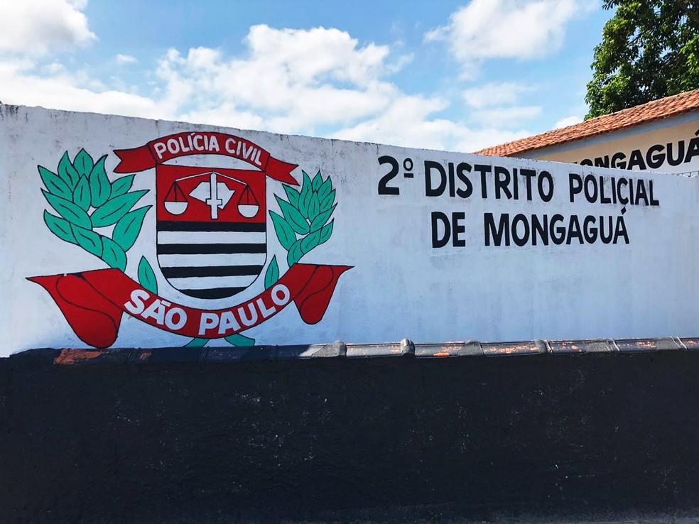 Caso foi registrado no 2º Distrito Policial de Mongaguá, SP — Foto: G1 Santos