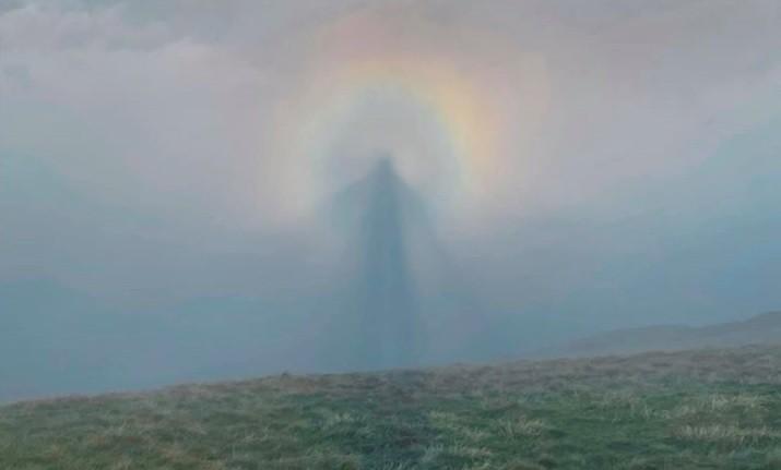 """Espectro de Brocken: fenômeno explica foto de """"anjo no céu"""" que ..."""