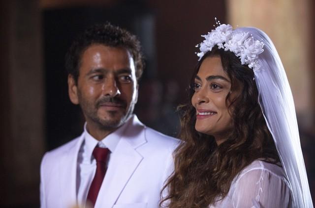 Marcos Palmeira e Juliana Paes como Amadeu e Maria da Paz em 'A dona do pedaço' (Foto: Isabella Pinheiro/Gshow)