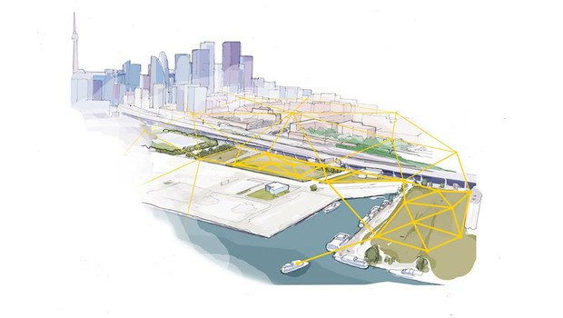 Ilustração conceitual do projeto Sidewalk Toronto, da Sidewalk Labs (Foto: Facebook/Sidewalk Toronto)
