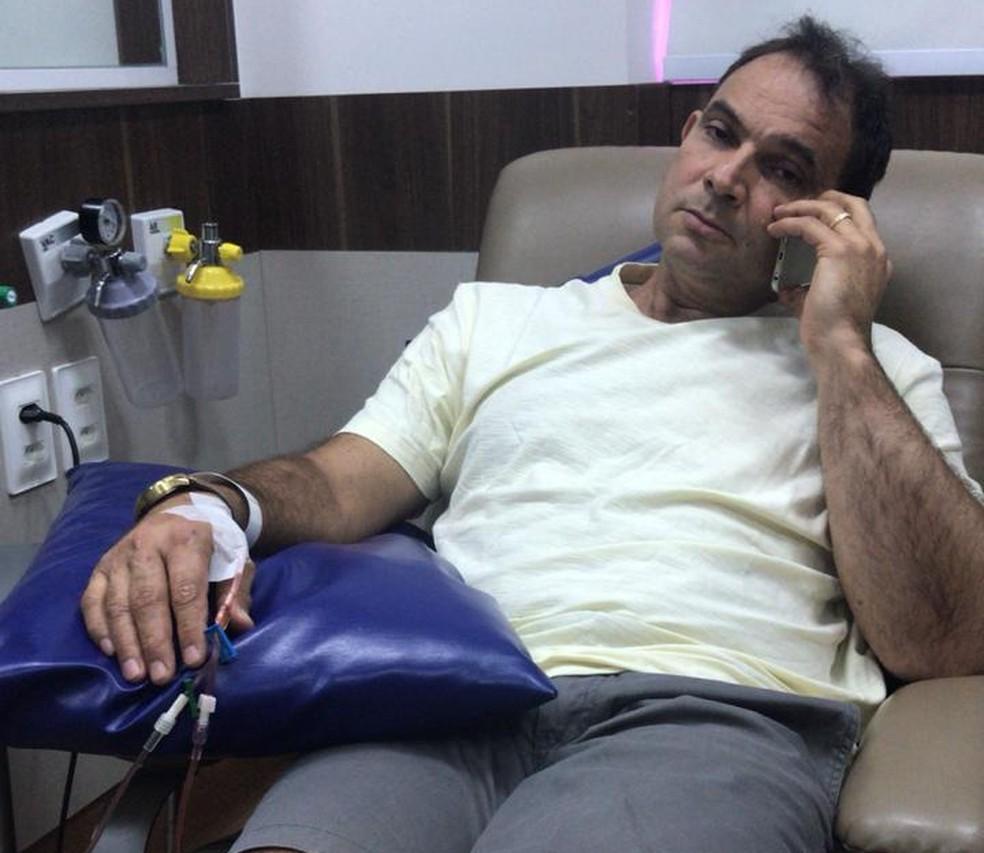 César, durante o tratamento — Foto: Arquivo pessoal