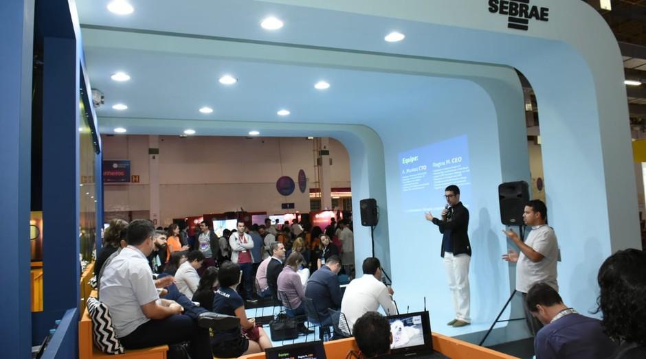 Apresentação no espaço Sebrae na Campus Party 2019. (Foto: Divulgação)