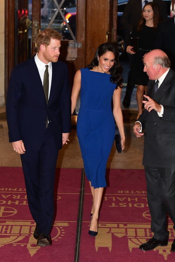 "LONDON, UNITED KINGDOM - SEPTEMBER 06: Prince Harry, Duke of Sussex and Meghan, Duchess of Sussex attend the ""100 days of peace"" concert to commemorate the centenary of the end of the First World War at Central Hall Westminster on September 06, 2018 in Lo (Foto: Getty Images)"