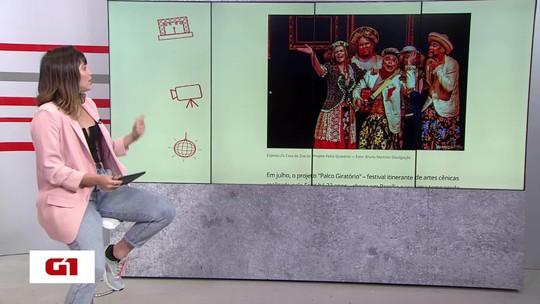 """G1 Cultural no BDDF: Começa programação do """"Palco Giratório"""" de teatro, circo e dança"""