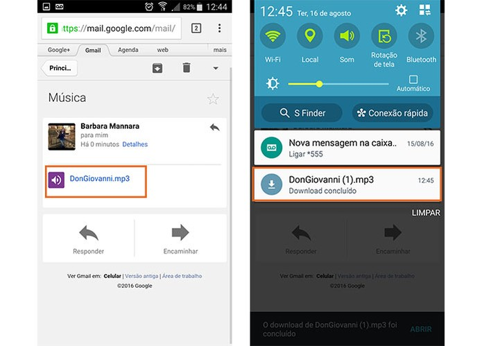 Baixe arquivos de e-mail no Chrome para Android (Foto: Reprodução/Barbara Mannara)
