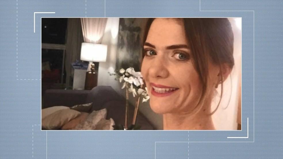 Empresária Simone Tonini, morta em Vila Velha, após ser atingida por barra de ferro — Foto: Reprodução/ TV Gazeta