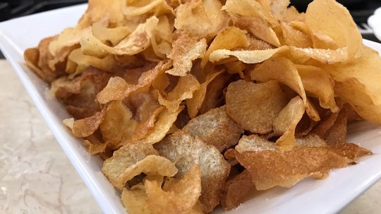 Chips de Inhame do Chef Roberto Ravioli