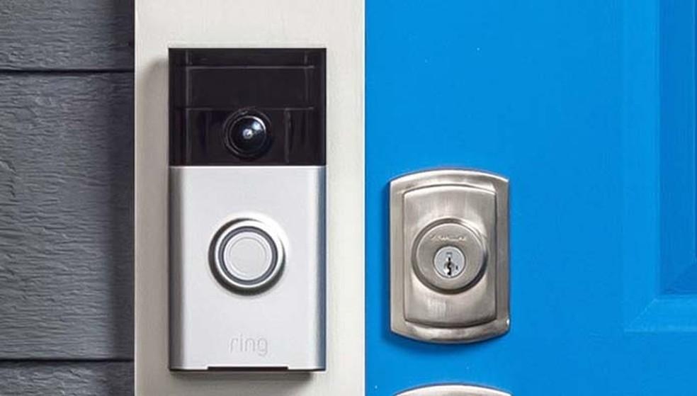 Campainha Ring tem câmera com ângulo de visão de 180º (Foto: Divulgação/Ring)