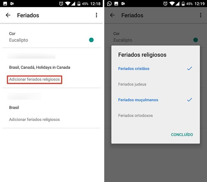 Google Agenda pode exibir feriados religiosos junto com datas nacionais (Foto: Reprodução/Elson de Souza)