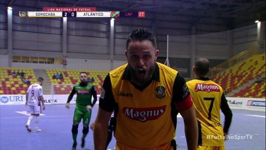 Os gols de Sorocaba 5 x 3 Atlântico Erechim pela Liga Nacional de futsal