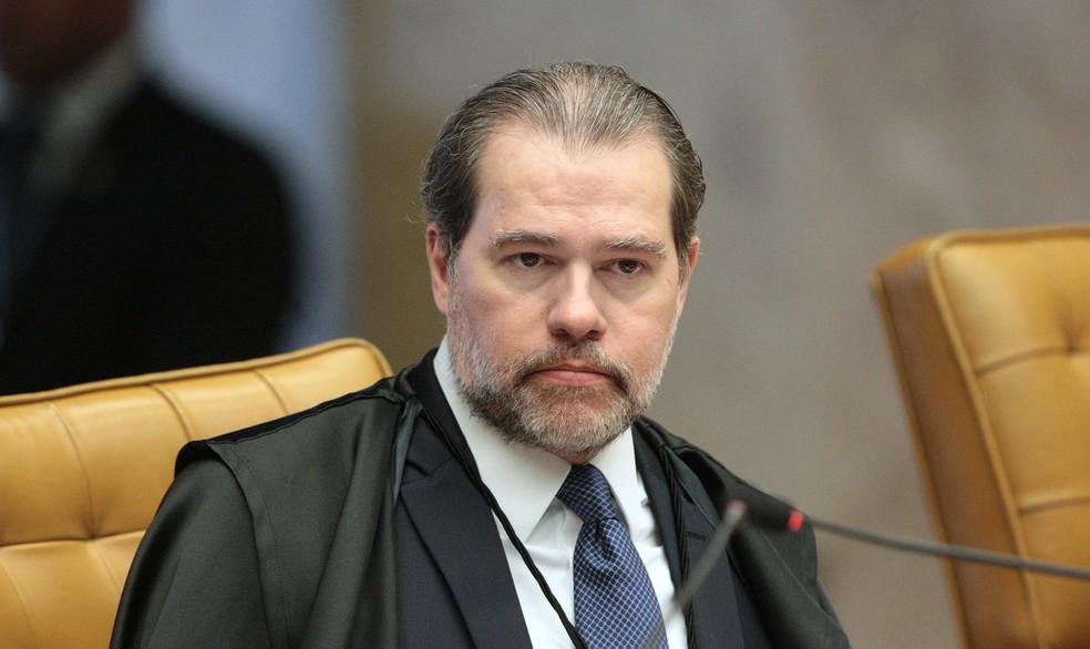 O ministro Dias Toffoli, do STF, em sessão no início do mês no tribunal (Foto: Carlos Moura/SCO/STF)
