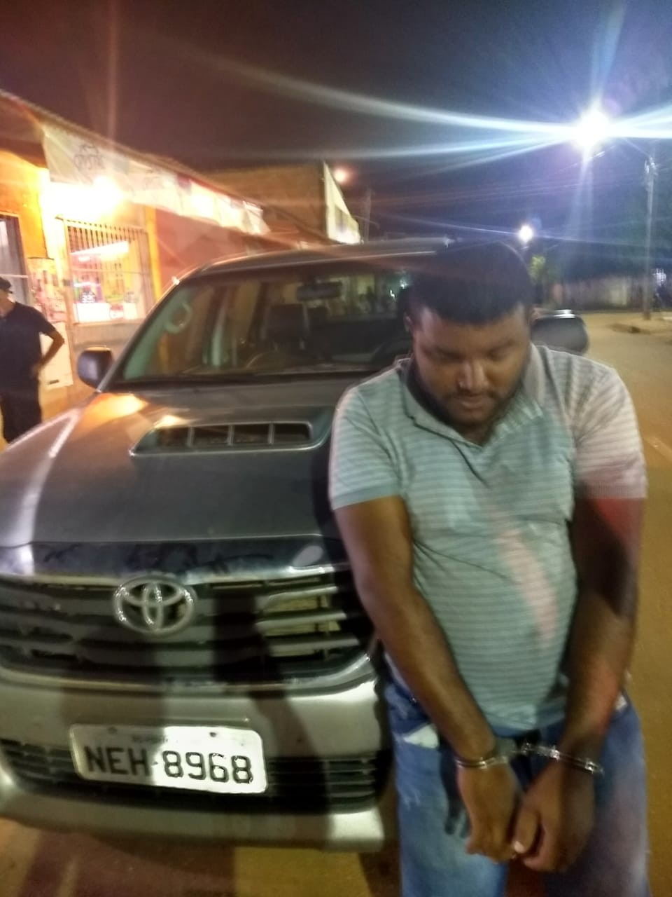 Homem é preso com caminhonete roubada e diz ter comprado veículo por R$ 3 mil, em RO - Notícias - Plantão Diário