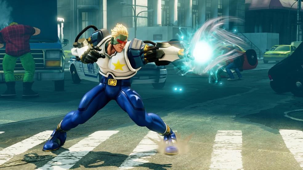 Nash como Captain Commando (Foto: Divulgação/Capcom)
