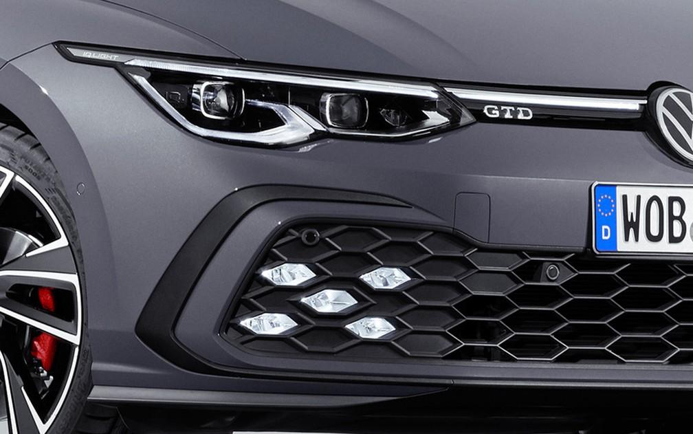 Assinatura visual dos novos Volkswagen Golf esportivos — Foto: Divulgação