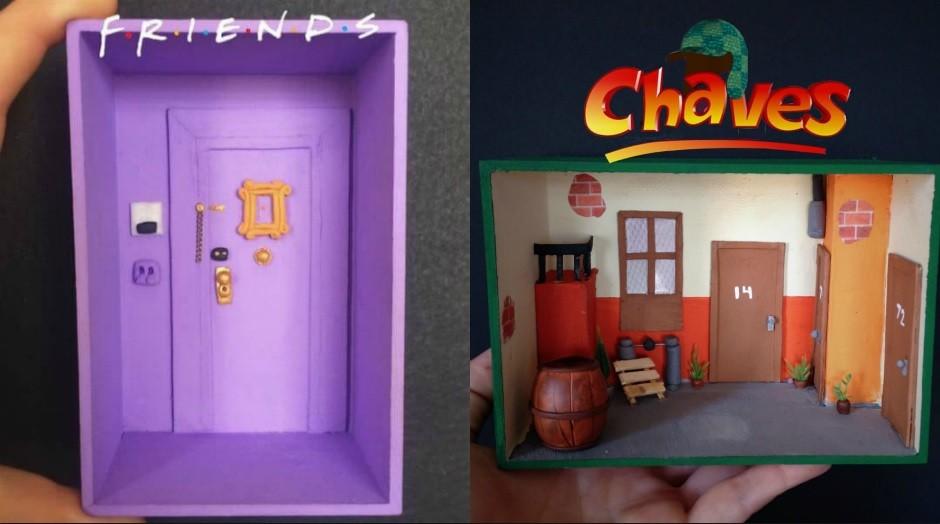 flavia barcello, caixa, friends, chaves (Foto: Divulgação)