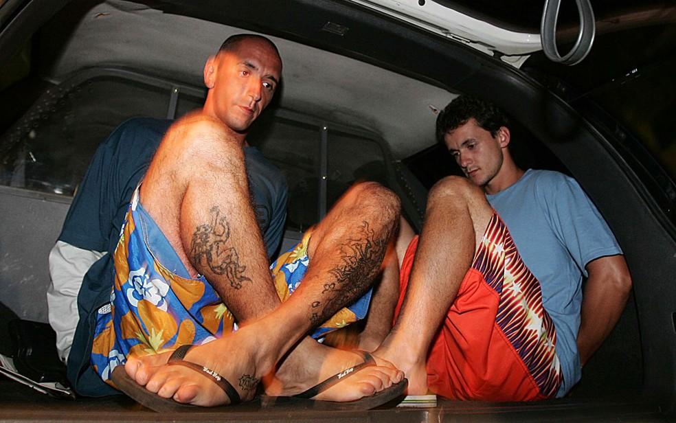 Os irmãos Cristian (esq.) e Daniel Cravinhos, em foto de 23 de janeiro de 2006 (Foto: Vidal Cavalcante/Estadão Conteúdo/Arquivo)