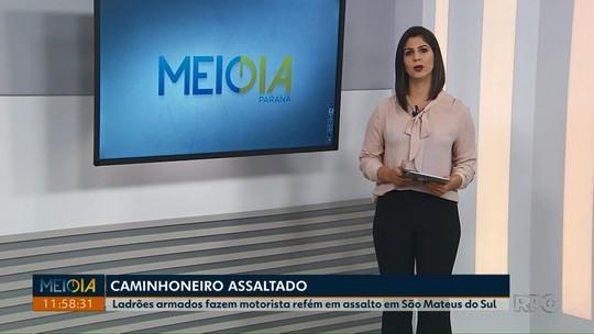 Caminhoneiro é feito refém por quase uma hora durante assalto em São Mateus do Sul, diz polícia