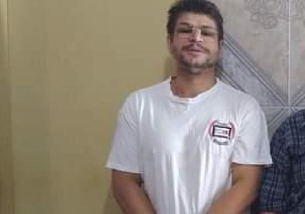 O suspeito foi detido pela polícia e levado para um hospital de Redenção — Foto: Arquivo pessoal
