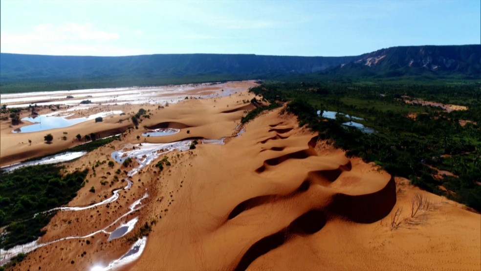 Maior duna do Jalapão  cresce mais a cada ano — Foto: rede globo