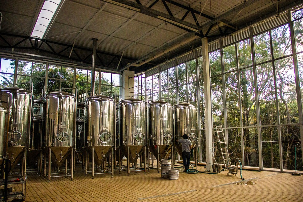 Fábrica da cervejaria artesanal brasiliense Cruls, que conquistou 17 prêmios nacionais e internacionais em menos de dois anos de existência — Foto: Cruls/Divulgação