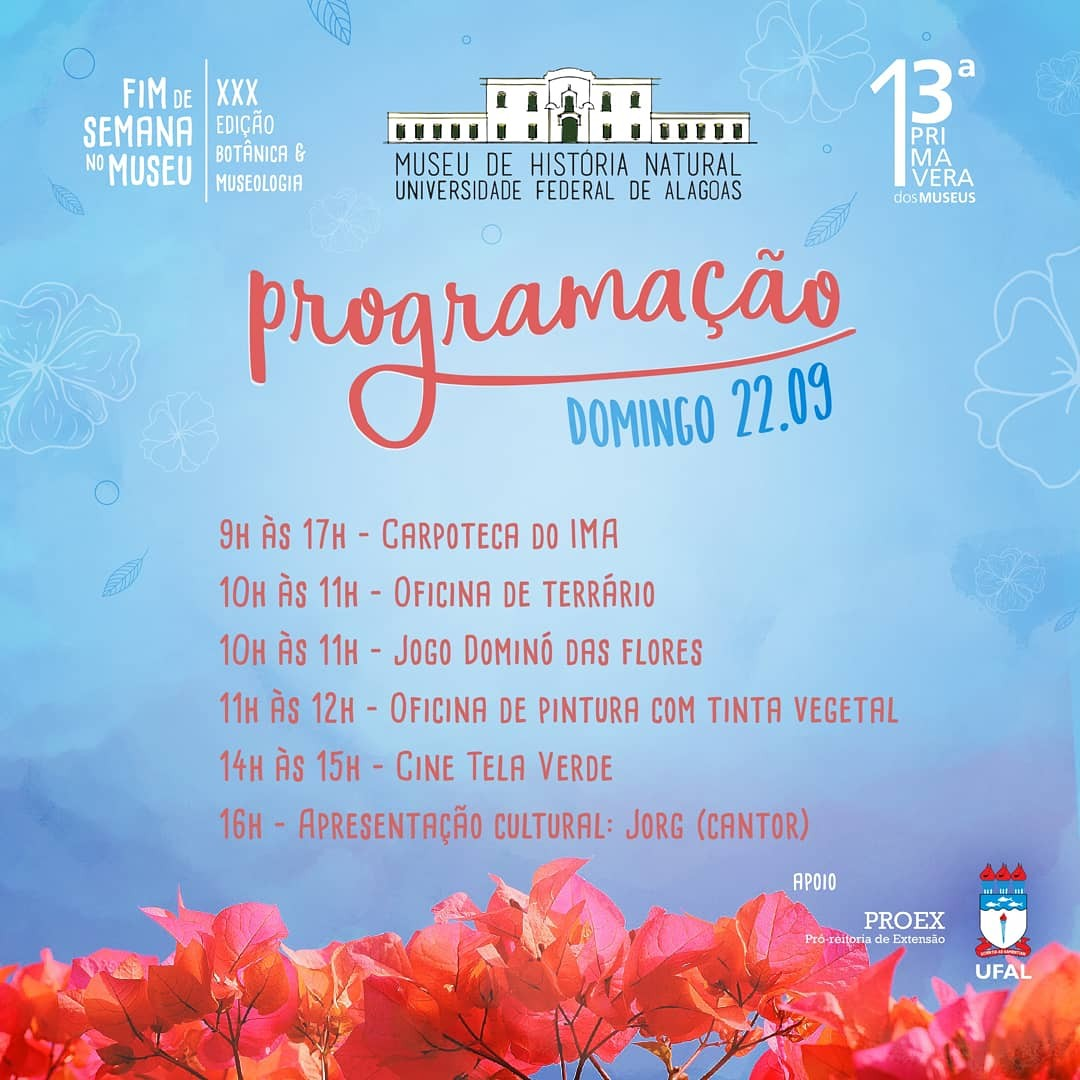 Museu de História Natural, em Maceió, tem evento gratuito no domingo  - Notícias - Plantão Diário