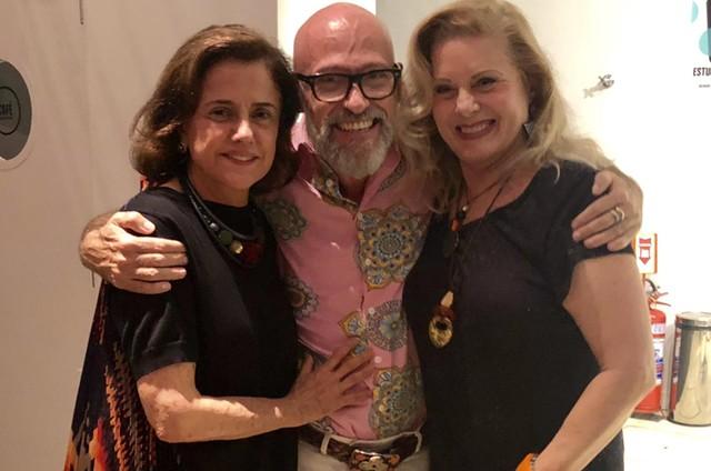 Vera Fischer e Marieta Severo com Gilberto Gawronski (Foto: Wagner Uchoa)