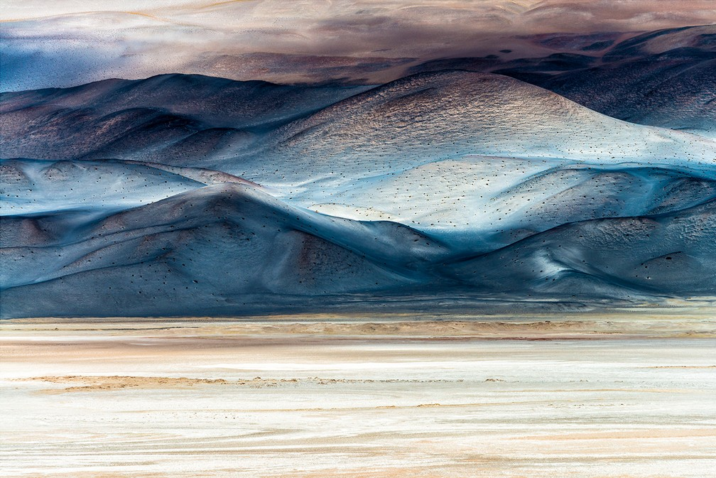 Imagem do Salar de Antofalla, na Argentina, foi a vencedora na categoria Arte da Natureza — Foto: Chiara Salvadori