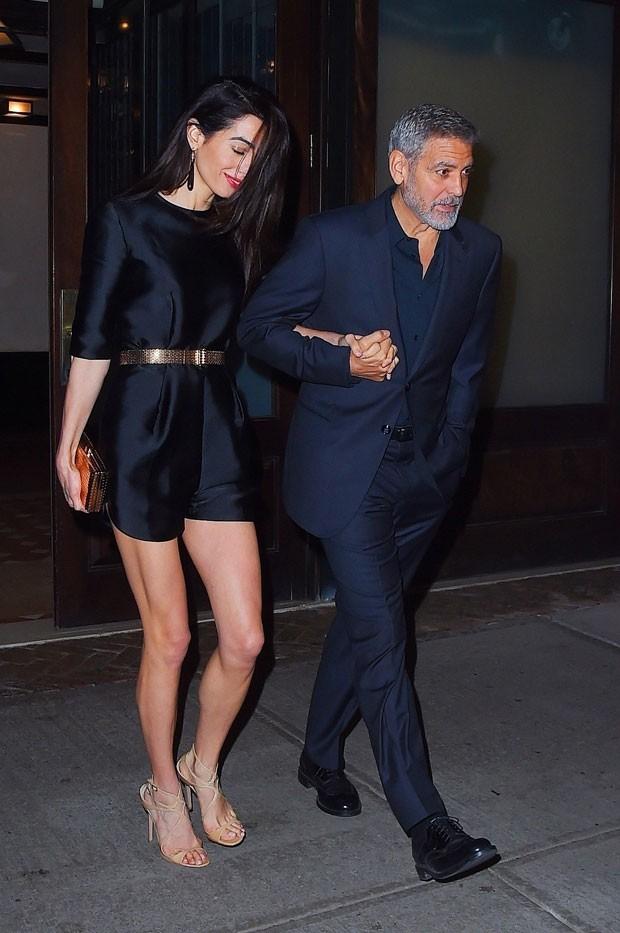 George Clooney e Amal (Foto: Backgrid)