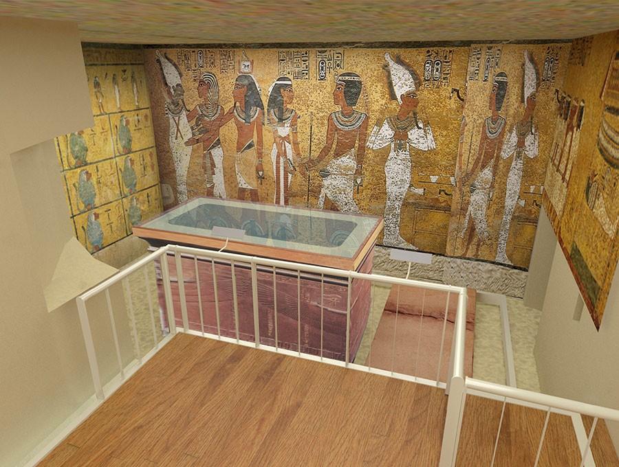Proteções foram instaladas para separar visitantes de artefatos (Foto: Divulgação/Getty Trust/Shaboury Associates)